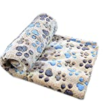 Befaith Doux chaud animal molleton couverture lit mat couverture coussin chien chiot animal marron 100x80cm