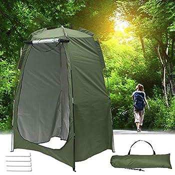 Tente de Douche Portable,Tente De Camping en Plein Air Douche Salle De Bain Toilette Confidentialité Stockage Vestiaire, Unique Tente Pliante Mobile Durable pour Pêche à la Plage (Vert Armée)