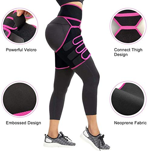 Product Image 6: YWYJOSOF Waist Trainer for Women, 3 in 1 Waist Thigh Trimmer and Weight Loss Butt Lifter Shaper for Workout,Training Fitness Shapewear Body Shaper Belt for Weight Loss Thigh Trimmers