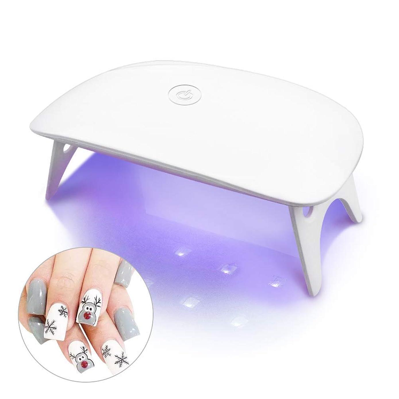 レイア代表球体LEDネイルドライヤー UVライト タイマー設定可能 折りたたみ式 ジェルネイル用 ホワイト