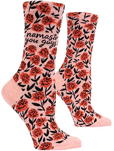 Namaste You Guys. Blue Q Women's Funny Crew Socks. (fits shoe size 5-10) New Mexico
