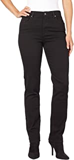 Women's Amanda Tapered Leg Jean in Black