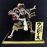One Piece Anime Molly Kabuki Luffy Sombrero de Paja Versión Versión Escultura Estatua Estatua Figura Decoración Modelo Figura 18 5 cm Altura Altura