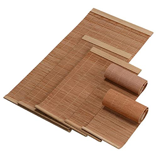 Color Natural Tejido De Bambú Mattes De Verano Y Ranura De Mesa Aislamiento Térmico, Disponible En Varios Tamaños(Size:20×30CM,Color:Color primario)