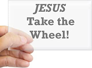 CafePress Jesus Take The Wheel Rectangle Bumper Sticker Car Decal