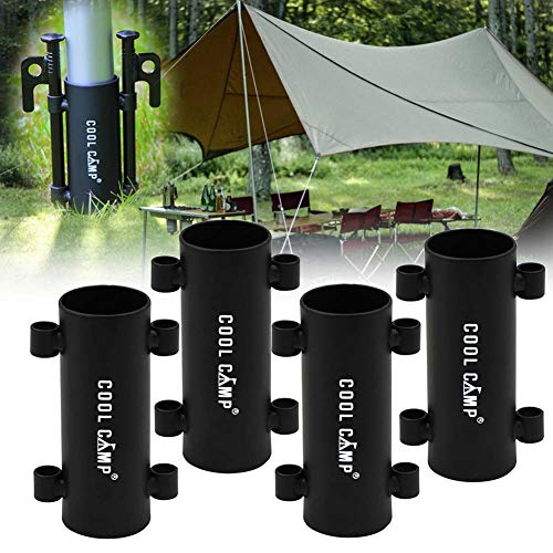 テント ポール 固定用 タープ ポール ホルダー キャノピーポール ベース 2本/4本セット ペグ タープ テントペグ ソリッドステー 20/30cm ハイキング 登山 キャンプ用 テント・タープ用固定釘