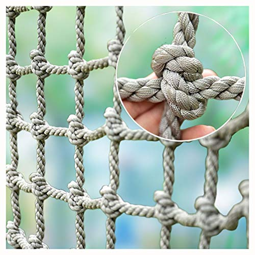 XXN Netzanstieg,Erwachsenes Haustier Nylon Seil Zaun Outdoor Kinderschaukel Baum Leiter Klettern Spielzeug Ladungsfestcontainer Riesen-Schwerlastdeck für Geländertreppe Dekorationsnetz