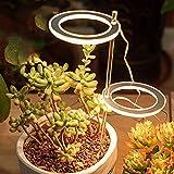 GYAM Luces de Cultivo LED, lámpara de Planta de Espectro Completo con Temporizador, lámparas fito USB, iluminación de Crecimiento de Plantas para Plantas de Interior,Rosado
