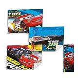 Disney Set Asciugamani Bagno 3 Pezzi Cars in Spugna per Viso 2056 Multicolore 40x30 cm