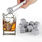 hompo lot de 9 pierre a whisky en granit glaçons pierre whisky cooler rocks spiritueux vins avec