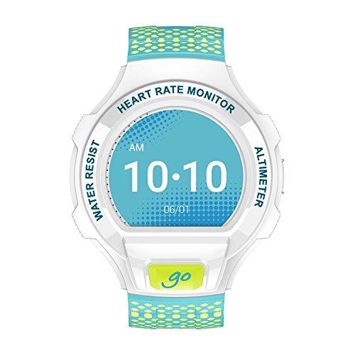 Alcatel SM03-WH - Reloj Inteligente con Bluetooth, Color Blanco Celeste