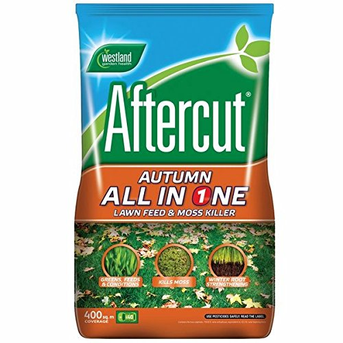 Aftercut All in One Autumn Lawn Feed and Moss Killer 400m2 by Westland