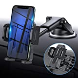 MIRACASE Car Phone Mount Universal 2-in-1 Car Phone Holder with Dashboard Air Vent Windshield Cell Phone Holder with Telescopic Arm & Dashboard Pad Fit for iPhone Samsung LG Sony Huawei and More