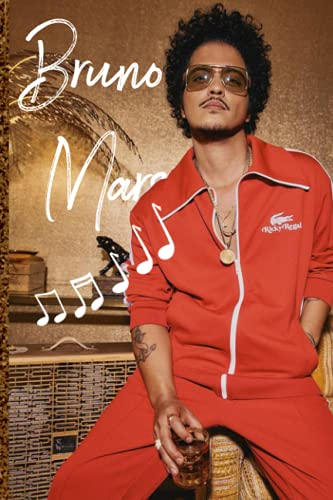 Bruno Mars Notebook: Notebook Gift with travel Quotes| Notebook Gift |Notebook For Him or Her | 110 Pages 6''x 9''