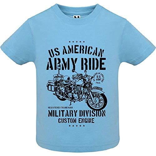 LookMyKase T-Shirt - Army Ride - Bébé Garçon - Bleu - 12mois