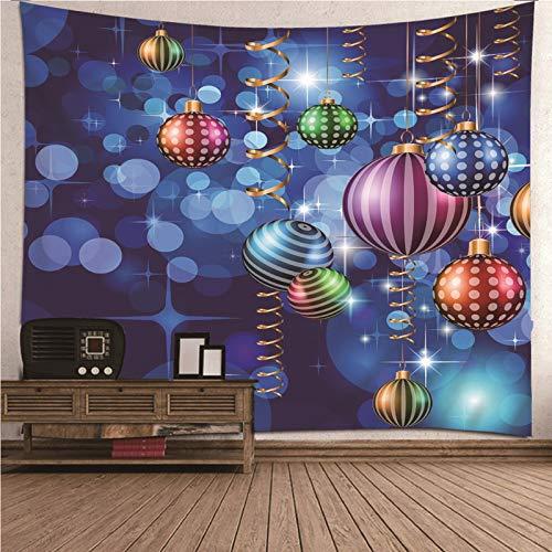Daesar Tenture pour Chambre, Tapisserie Murale Chambre Fille Boule de Décoration Couverture Canape Lit 350x256CM Multicolore Couverture Lit Polyester