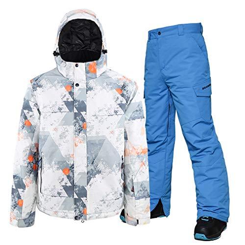 Skipak, voor mannen, jas en skibroek, set van 2, winddicht, waterdicht en ademend, snowboardbroek outfit, hoge snelheid voor de winter