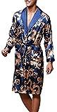 VERNASSA Uomo Accappatoio, Lungo in Raso Pigiami e Abbigliamento/Notte Satin Vestaglie/Kimono Bagno Vestito, Evening Dressing Gown, L-XXL, Multicolore & Stili di Moda …