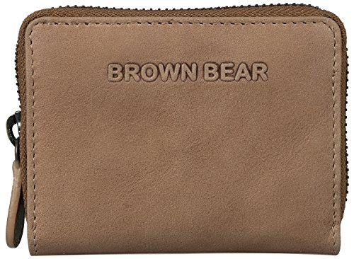 Brown Bear , Porta carte di credito Uomo Donna Unisex adulto marrone vintage camel 0