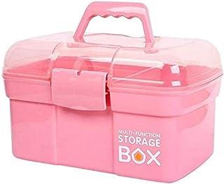 AINIYF Multi-Layer Household Medicine Box Medicine Storage Box Plastic Medical Box Multifunctional First Aid Kit Medicine Box (Color : Pink)