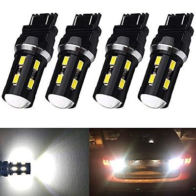 XINYANG 4PCS 3156 3157 LED Bulb High Power 18SMD-5630 Chipsets 3157 3457 3057 4157 3056 6000k White Led Bulbs for Car Truck Backup Reverse Brake Tail Turn Signal Daytime Running Parking Lights