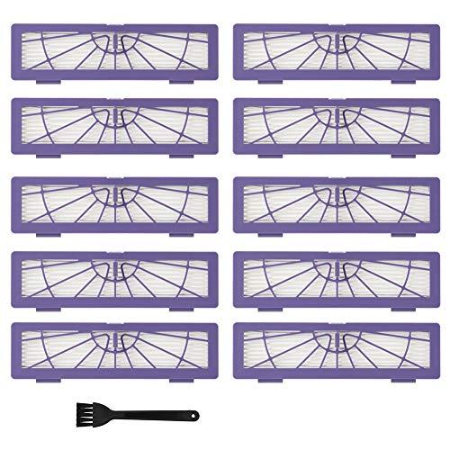 EECOO Accessoires pour Aspirateurs, 10 Pièces Filtres D'aspirateur, Accessoires de Filtre à Poussière Hepa avec Brosse de Nettoyage, pour Neato D3 D5 D70 D75 D80 70e D85