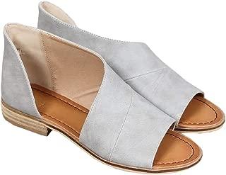 Womens Open Toe Flat Sandals Side Laser Cutout Sandal Ankle Booties Flats