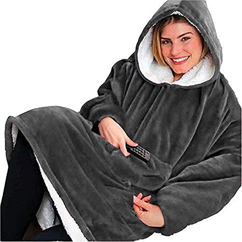Renquen Hoodie Hooded Robe Spa Badjas Sweatshirt Deken Heren Womens Katoen Rood