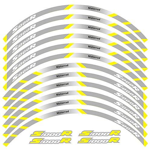 12 PCS Ajustar la Etiqueta de la Rueda de la Rueda de la Rueda de la Rueda de la Raya del Borde Reflectante para S1000R Etiqueta Decorativa (Color : 6)