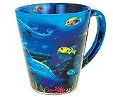 CoTa Global Dolphin Reef Latte Mug Nautical Beach Ocean Life Tumbler Glassware Travel Cup with Handle Drinkware 12 Ounce