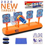 AUWOD Electric Scoring Auto Reset Shooting Digital Target for Nerf Gun with 20 Pcs Refill Darts and 2 Hand Wrist Band, Shooting Digital Target Toys for Boys and Girls