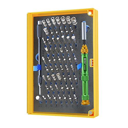 Kit Cacciaviti di Precisione 61 Punte Ottimo per assemblaggio e riparazione computer Smartphone Occhiali orologi Cellulari telefoni Magnetico Riparazione professionale manutenzione torx