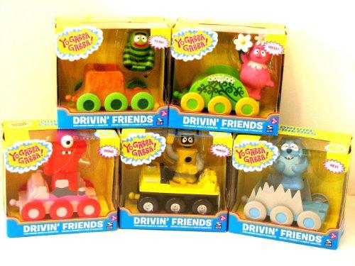 5 Yo Gabba Gabba Drivin Friends Push Around Cars Lot Muno Foofa Toodee Brobee Plex