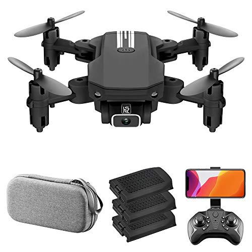 GoolRC LS- MIN Mini Drone con cámara 4K RC Quadcopter 13mins Tiempo de Vuelo 360 ° Flip Gesto Foto Video Pista Vuelo Altitud Control de Retención Remoto sin Cabeza Drone para Niños Adultos 3 Batería