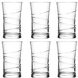 Lav 6 teiliges Wassergläser Saftgläser Trinkgläser Getränkegläser Serie Ring 350 ml Durchmesser 75 mm