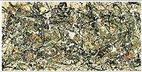 ポスター ジャクソン ポロック Number 8 1949 額装品 アルミ製ベーシックフレーム(ホワイト)