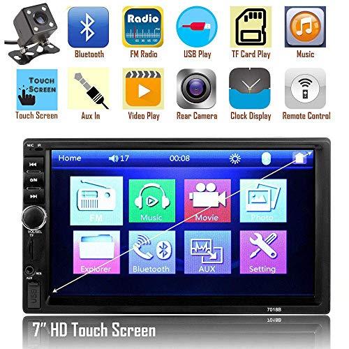 LWTOP Double DIN modèles de Voiture générale 7 Pouces LCD écran Tactile Voiture Radio Lecteur Bluetooth Voiture Support Audio caméra de recul