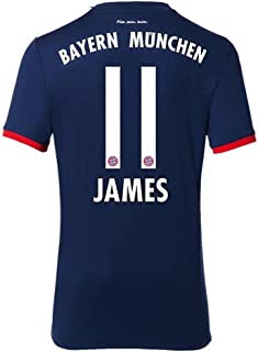 Official Bayern Munich Away Jersey 2017/18 with James #11 (Official Print) Adult size