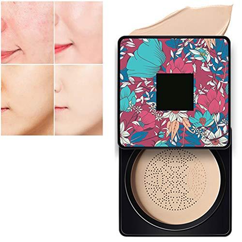 JYang Pilzluftkissen BB-Sahne, helle Make-up-Basis lang anhaltend mit dem Pilz-Makeup-Schwamm, feuchtigkeitsspendende Concealer, leicht zu bewerben, runden (Color :...