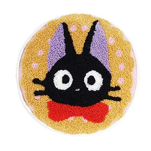 CoolChange Estuche de Nicky, la Aprendiz de Bruja para cosméticos con Imagen del Gato Jiji frottee, Tema: Amarillo