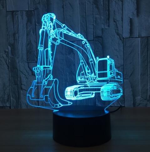 Cooles Spielzeug 3D Flugzeug Kampfflugzeug Lampe Modell Kreatives Nachtlicht, Touch Jet Flugzeug Schreibtischlampe LED Hologramm Illusion Lampe Nachttischlampe
