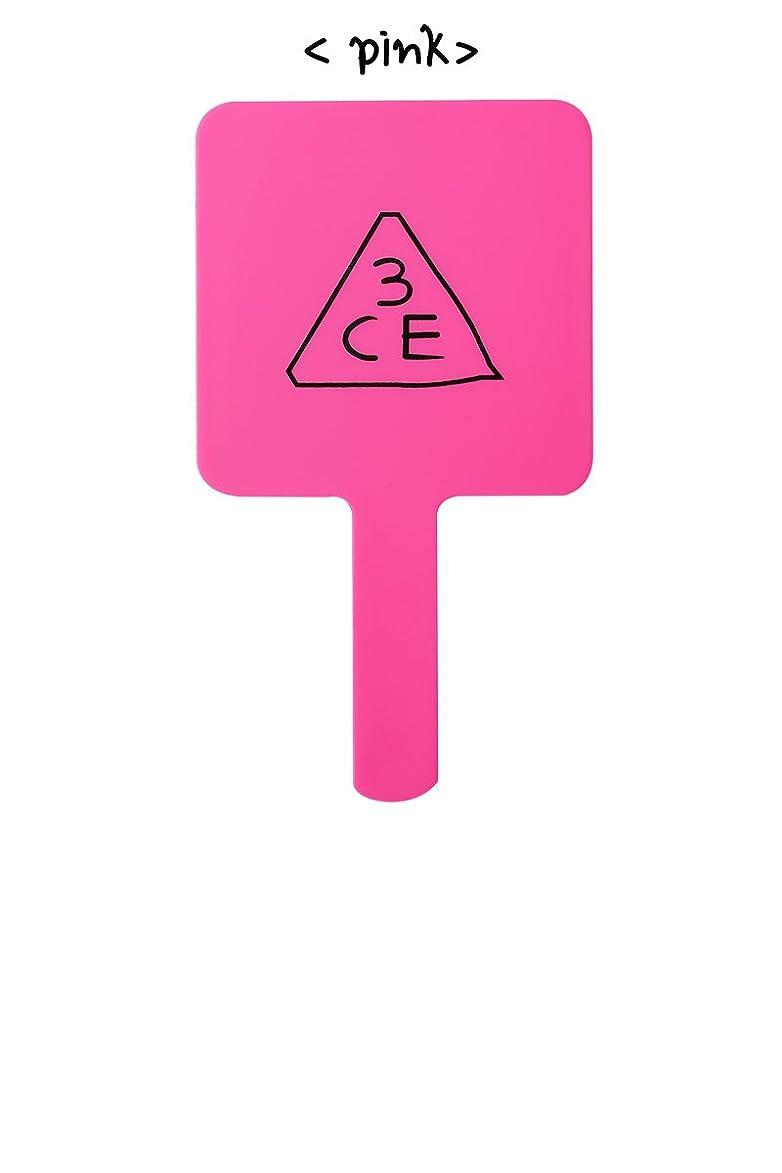 コンサルタント磁石重要[3CE/3CONCEPT EYES] 3CE SQUARE HAND MIRROR 手鏡 ハンドミラー #PINK