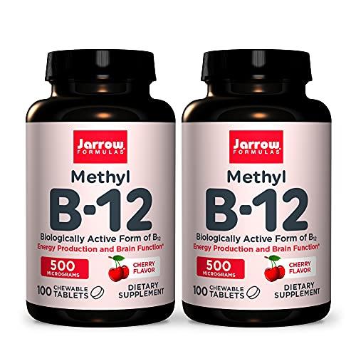 Jarrow Formulas Methyl B-12 500 mcg - 100 Chewable Tablets, Cherry -...