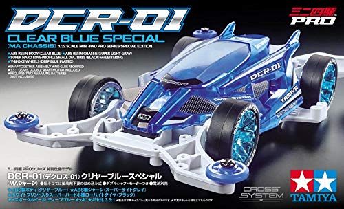 Tamiya 95500 Mini 4WD PRO DCR-01 Clear Blue Special Telaio MA [Limited Edition] 1/32 Kit Montaggio