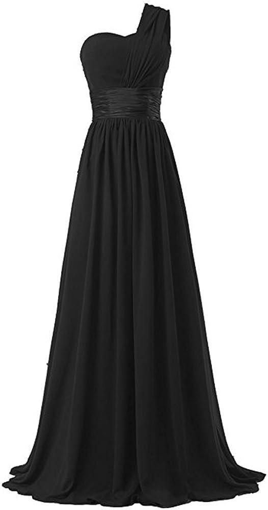 HAWEE Women's One Shoulder Superior Chiffon Leng Factory outlet Floor Dress Evening Long