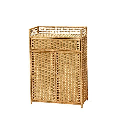 Zapateros Nan Rattan Weaving Shoebox Balcón Gabinete de Almacenamiento Simple...