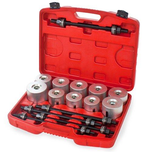 TecTake 27 pcs Silentbloc extracteur outil de roulements Jeu d'outils pour le montage et le démontage de roulements joints et bagues