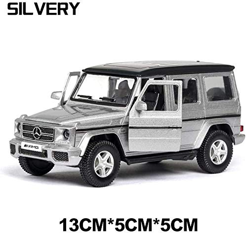 Model auto's 1:36 Diecast Car Model Rover Range Rover Metal Car Wheels Simulation Pull Back Car Collection Kinder Gift dljyy ( Color : Silver G63 )