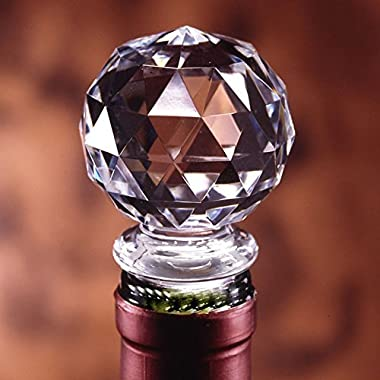 Dependable Products Acrylic Wine Bottle Stopper Crystal Clear with Airtight Silicone Seal Gift Packaging