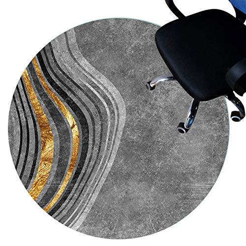 XJRS Teppich für bürostuhl stuhlmatte Für Hartholzböden, Kurzflorige Teppiche, Antirutsch, rutschfeste Unterlage, Easy to Clean, Bodenschutzmatte(Size:160cm/63in,Color:C.)